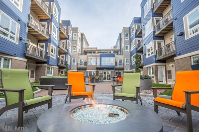 Veritas Village - First Floor Courtyard with Fire Pit